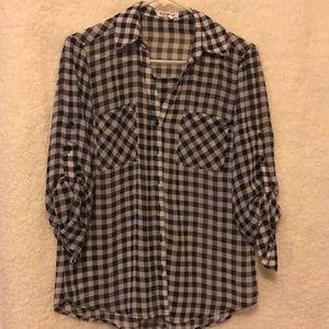 Checkered black and white Portofino blouse